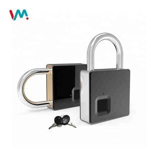 Custom smart anti-theft smart fingerprint padlock with key
