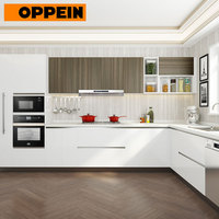 OPPEIN built-in wooden furniture clean design integrated kitchen cabinetry