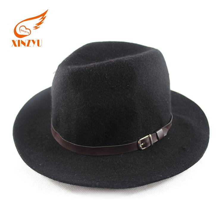 Wholesale mountain man felt fedora hat black wool felt cowboy hats 92354ec61a8