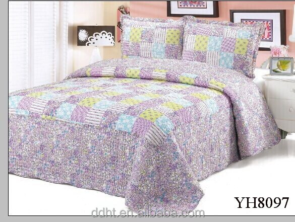 Vintage Violet Patchwork Quilts / Bedding Sets in Cotton / Polyester Material