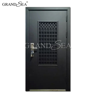Entrance residential steel security doors and frames
