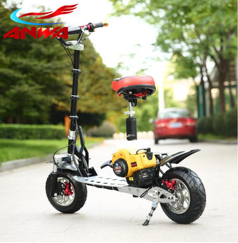2 tempi 49cc CE approvato gas skateboard scooter gas stand up