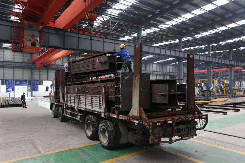strong steel structure workshop Double Girder overhead Traveling crane