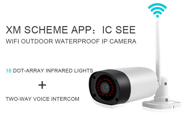 Điều chỉnh chống nước Cửa hàng thông minh không dây Wifi Hd Camera giám sát an ninh Camera Ip