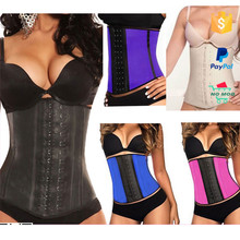 Newest dropshipping steel boned overbust hour glass waist trainer