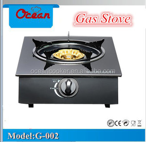 single glass gas stove mini gas cooker