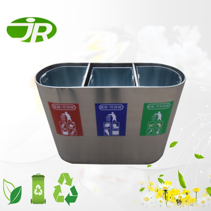 luxury indoor 3 compartment garbage bin recycling Bins for sales