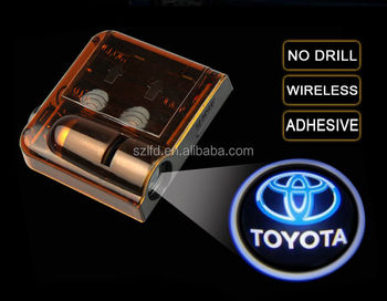 Wireless led projector logo car door light,AAA battery car shadow ghost logo projector light