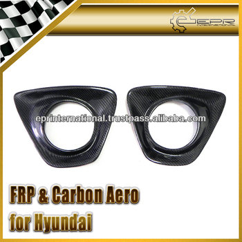 For Hyundai Veloster Turbo Gamma Carbon Fiber Rear Fog Light Cover (Turbo)