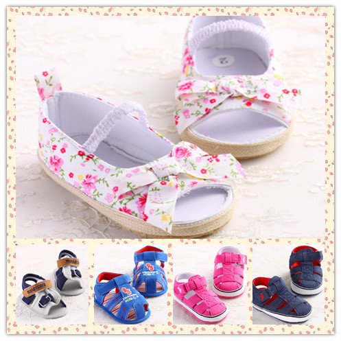 Hot 2015 Sale Summer Style Baby Girls Princess Shoes Non-skip Infant Sandals Baby Walkers Toddler Baby Girl First Walkers 5S051