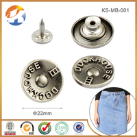 Hot Sale Cheaper Anti Silver Metal Button For Jeans