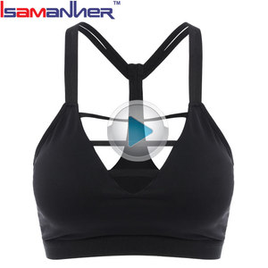 Wholesale molded cup activewear adjustable strap women gym yoga sports bra