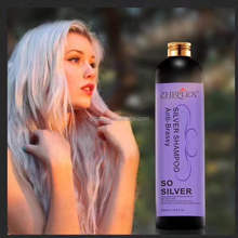 Nourishing anti brassy keratin for blonde color hair silver purple shampoo