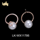 Unique design jewelry suppliers artificial vintage hoop pearl copper alloy fashion earrings stud jewelry making supplies