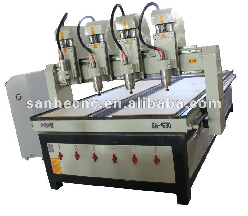 SH-1625 Two spindle CNC Woodworking machine with vac-sorb