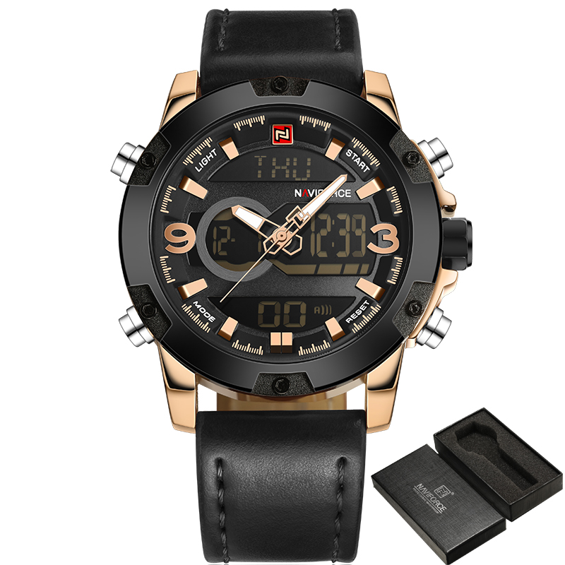 2017 Naviforce New Style Stainless Steel Watches with Waterproof for Sport