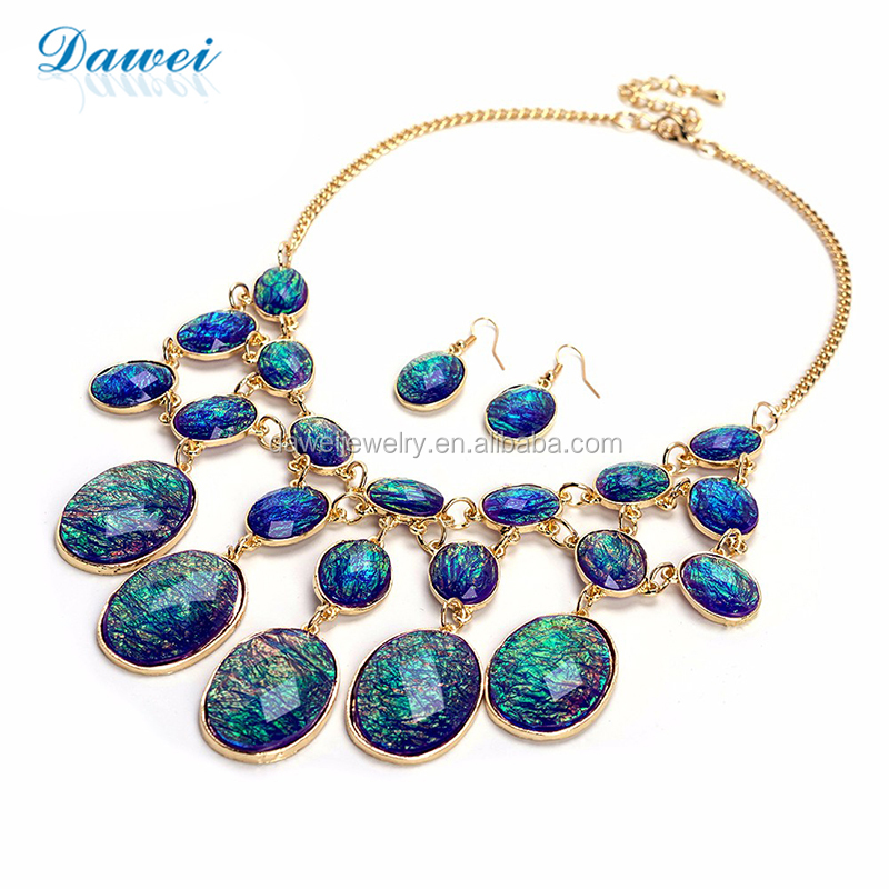 Unique Jewellery Set Bubble Style Lucite Beaded Vintage Necklace for Women Gift