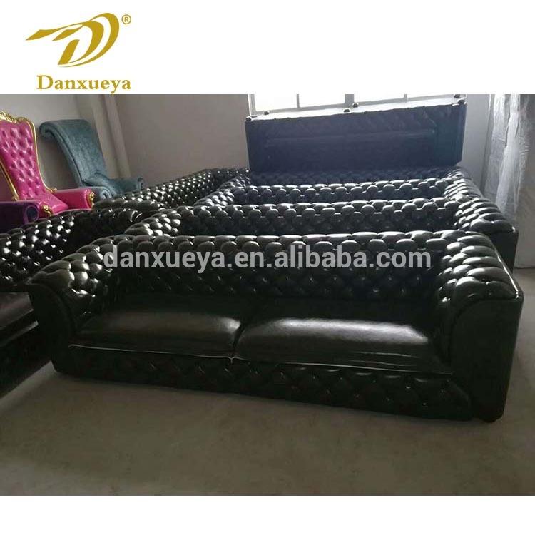 New Design Modern Livingroom Black Leather Tufted Chesterfield Sofa - Buy  Livingroom Sofa,Tufted Chesterfield Sofa,Button Tufted Leather Sofa Product  ...
