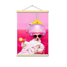 Gohipang, Kawaii, хиппи, животное, косплей, собака, постер для питомцев, Скандинавская гостиная, Настенная Художественная печать, картина, домашний ...(Китай)