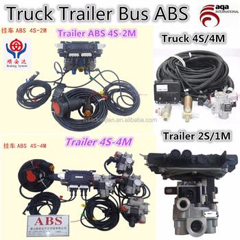 Trailer Truck Air Brake System Abs Ebs Brake Chamber Brake Valves