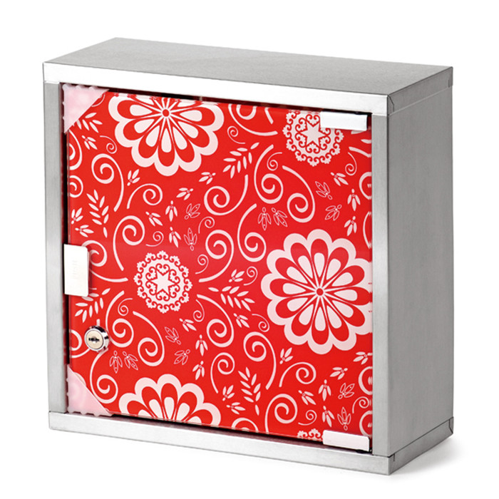 Chinese stainless steel bathroom medicine cabinet with wood door
