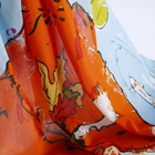 Custom design digital printing silk chiffon georgette habotai satin fabric for dress and scarves