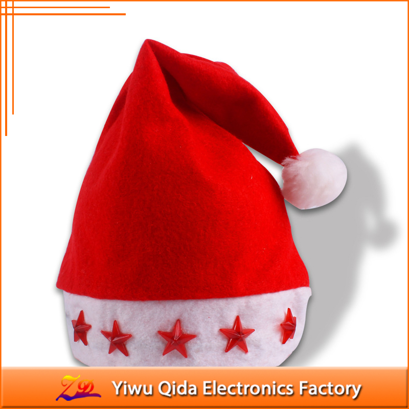 2017 New products christmas decoration LED Christmas santa hat for sale
