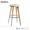 manufacture wooden frame natural round wood bar stools for Best value