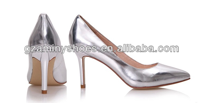 2014 metallic leather shoes women shoes