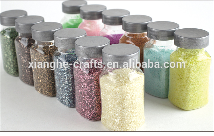 Rainbow color glitter micro beads crystal 3D nail beads for nail art decoration