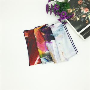 Chinese Manufacture Own Design Digital Silk Scarf Printing
