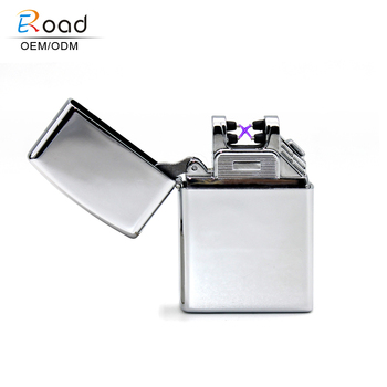 Eroad vogue windproof electric spark ignition lighter for smoking