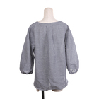 High quality customized breathable lantern sleeve blouse women long sleeve cotton shirt