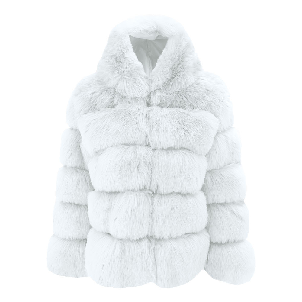 59429c182 Plus Size Winter Jacket Coat Women Fashion 2018 Ukraine Luxury Faux Fur  Hooded Woman Jackets Parka Womens Tops And Blouses Faux Fur Cheap Faux Fur  Plus Size ...