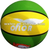 Rubber basketballs/Multi Colored cheap custom made inflatable rubber basketballs