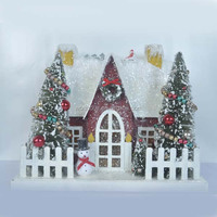 Snow & christmas scene Christmas decoration house &Christmas miniature house