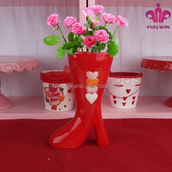 Unique Flower Vase Shapes Shoe Flower Vase Buy Shoe Flower Vase