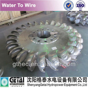 Casted pelton runner turbine generator made in china from shenyang getai for modernization in Run Of River power plant