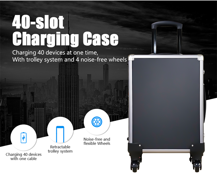Factory 40 Slot Wireless Audio Tour Guide System Charger Case