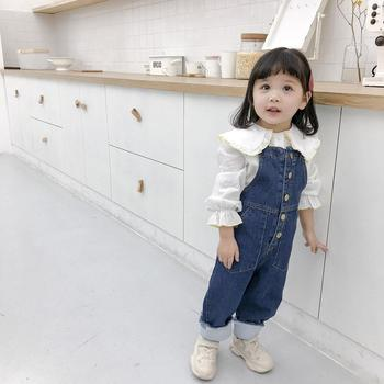 Spring and summer new boys and girls baby soft trousers denim loose pants