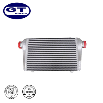 Professional Manufacturer 600X300X76mm Silver and Polished Aluminium Universal Intercooler