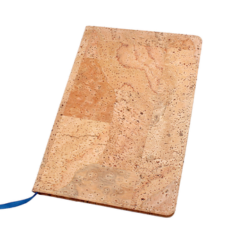 Promotional gift custom eco friendly cork hardcover A5 agenda notebook
