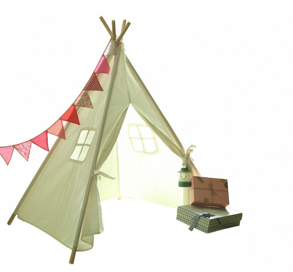 Wholesale Children Play Tent Cotton Canvas Kids Indian Teepee Tent