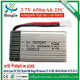 3.7v 650mah 25C high rate Li-polymer battery for Syma X5C X5SW X5SC 2.4G 6 axis 4 channels RC Quadcopter item No 852540