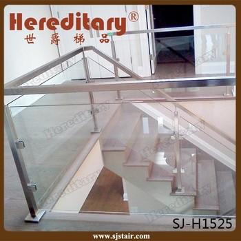 Plexiglass Indoor Metal Stair Railing/galvanized Steel Handrails
