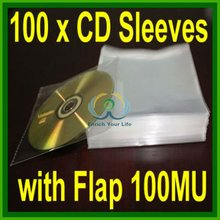100 x <span class=keywords><strong>cd</strong></span> <span class=keywords><strong>dvd</strong></span> <span class=keywords><strong>lengan</strong></span> dengan flap amplop kasus opp 100 m