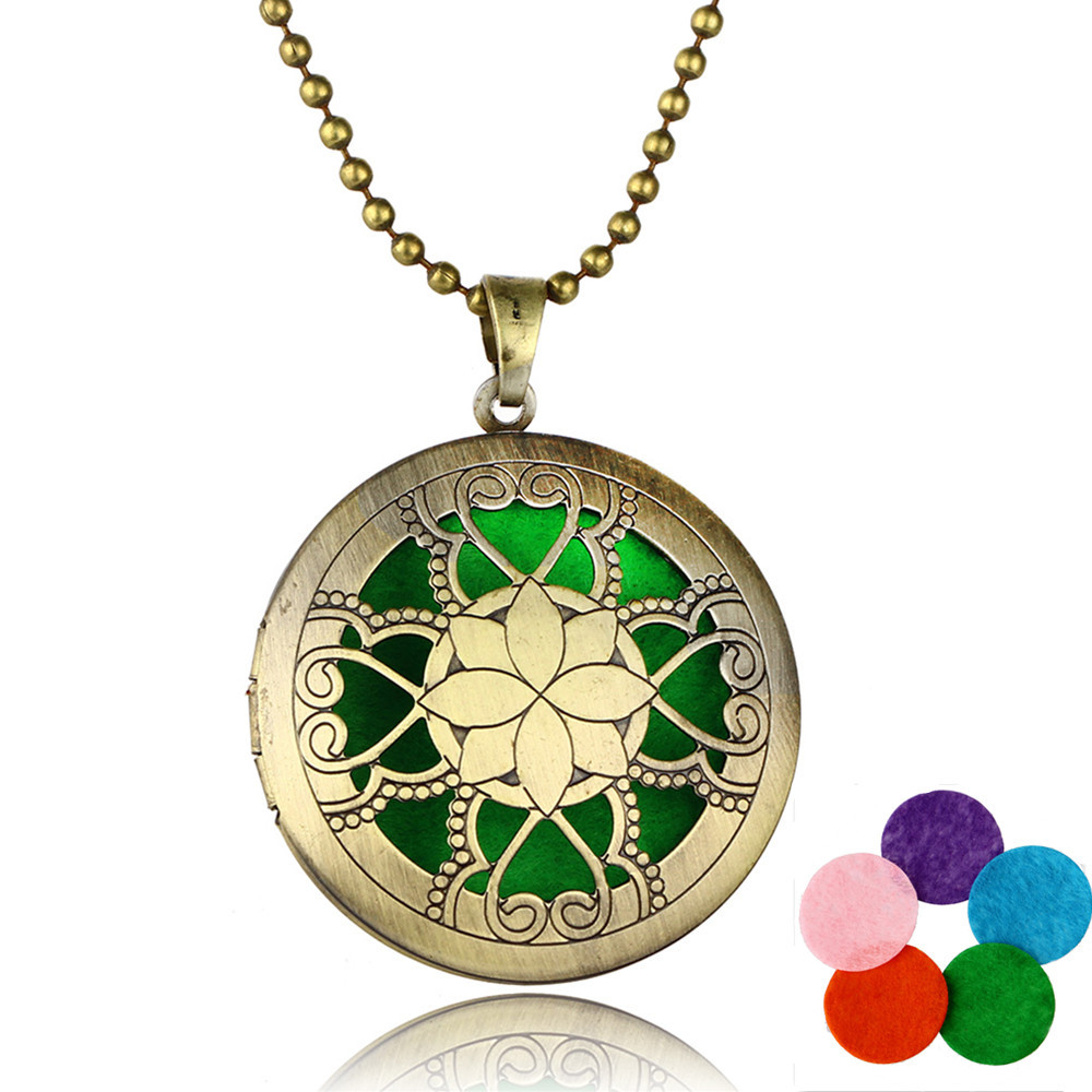 New Design Aromatherapy Essential Oil Diffuser Perfume Necklace ...