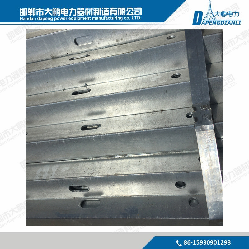 11KV/33KV Galvanized Steel Crossarm Electric Cross Arm Pole Arm for Overhead Power Line Fittings