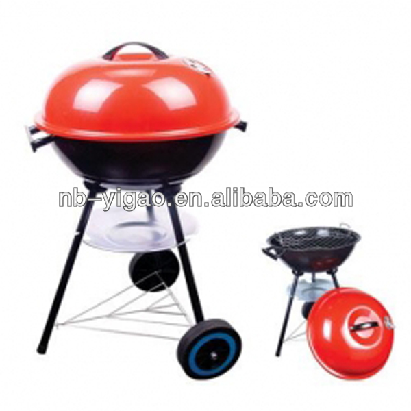 Portable Apple Shape Grill Barbecue Grill With Wheels Charcoal Bbq ...