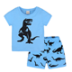 PHB40891 dinosaur prints blue color summer outfits boys clothing 4 to 10 years